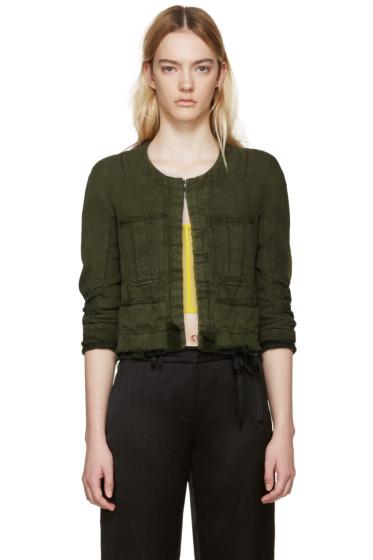 Haider Ackermann - Green Linen Nakhu Jacket
