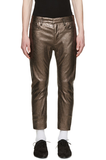 Haider Ackermann - Silver Leather Pants