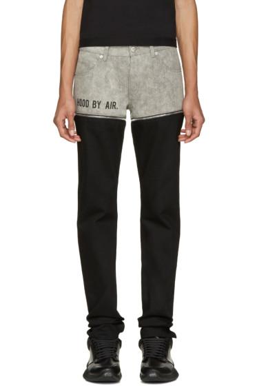 Hood by Air - Black & Grey Panty Jeans