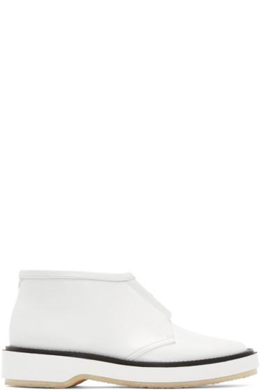 Adieu - White Leather Type 3 Boots