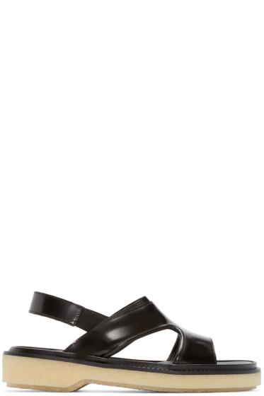 Adieu - Black Leather Type 43 Sandals
