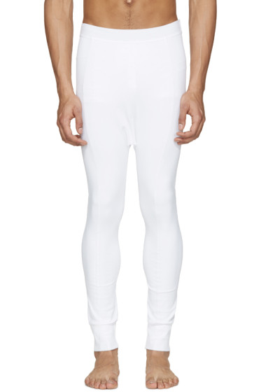11 by Boris Bidjan Saberi - White Reflective Leggings