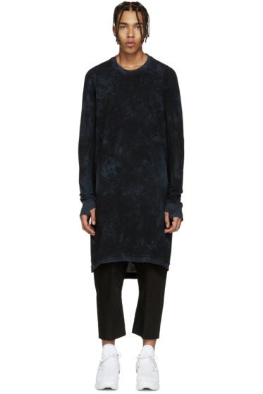 11 by Boris Bidjan Saberi - Black & Blue Knit Mesh Pullover