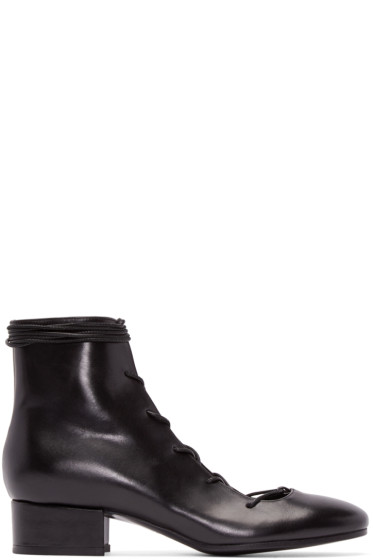 Carritz - Black Lace-Up Oona Boots