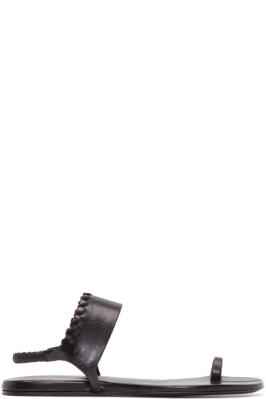 Carritz - Black Leather Bracelet Sandals