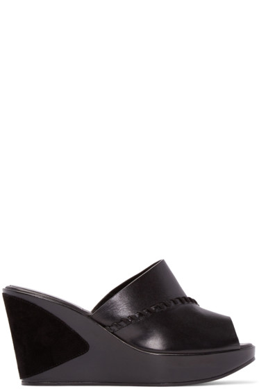 Carritz - Black Leather Ursa Mules