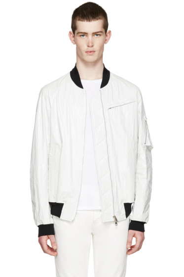 Diet Butcher Slim Skin - White Tyvek Flight Jacket
