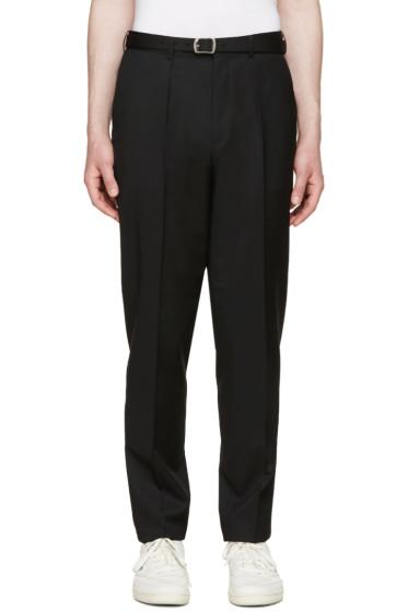 Johnlawrencesullivan - Black High-Rise Trousers