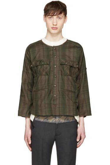 Blackmeans - グリーン チェック シャツ