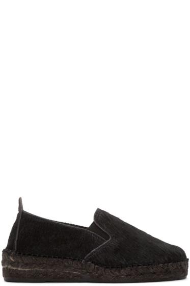 Prism - Black Calf-Hair Espadrilles