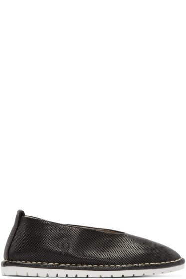 Marsèll Gomma - Black Perforated Leather Sanlaccio Flats