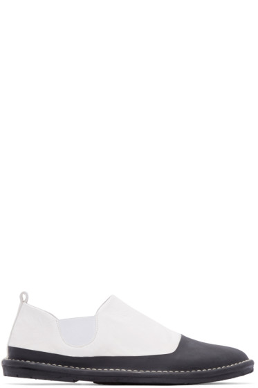 Marsèll Gomma - Black & White Leather Espadrilles