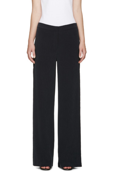 Nomia - Black Crinkle Vented Trousers