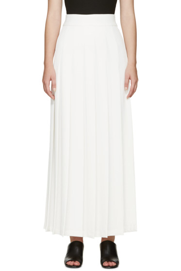 Nomia - Ivory Pleated Maxi Skirt