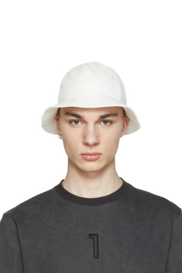 D by D - White Faux-Leather Bucket Hat