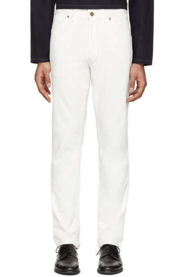 Lemaire - Off-White Straight Leg Jeans