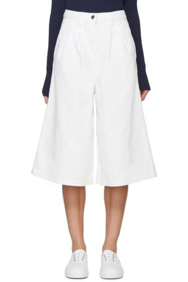 Edit - White Denim Culottes