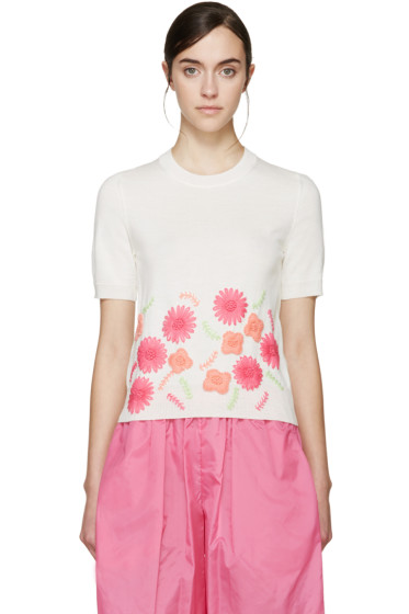 Comme des Garçons Girl - Ivory Embroidered Sweater