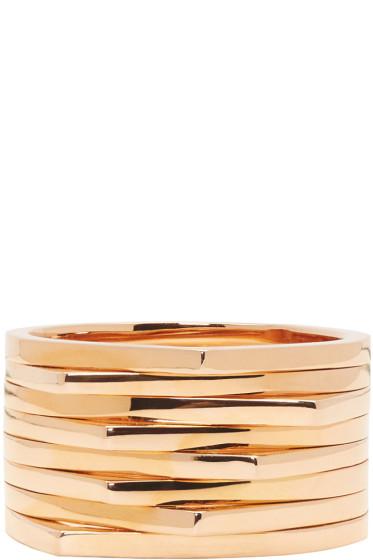 Repossi - Rose Gold 8 Rows Antifer Ring