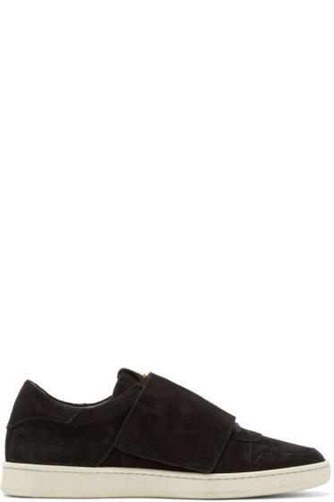 Palm Angels - Black Suede Basket Sneakers