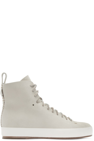 Feit - Beige Hand Sewn High-Top Sneakers