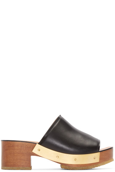 Rosetta Getty - Black Leather Clogs