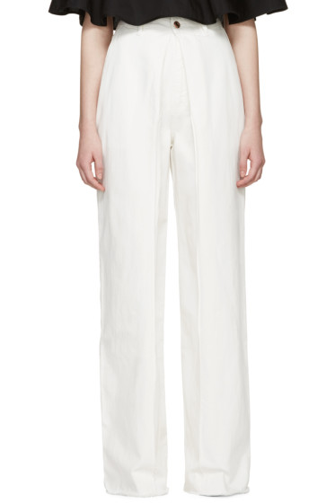 Aalto - White Front Pleat Jeans