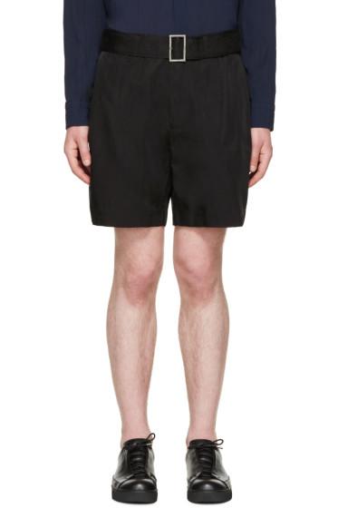Issey Miyake Men - Black Cupro Belted Shorts