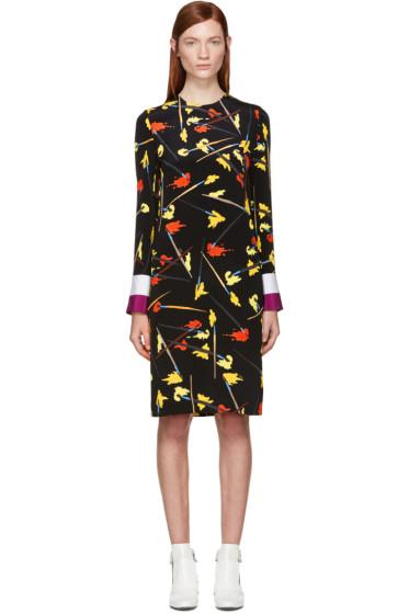 Emilio Pucci - Black & Yellow Crepe Paintbrush Dress