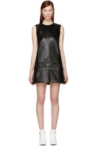 Courrèges - Black Patent Pocket Dress
