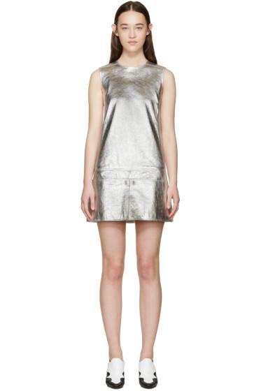 Courrèges - Silver Metallic Leather Mini Dress