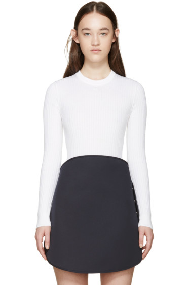 Courrèges - White Rib Knit Bodysuit