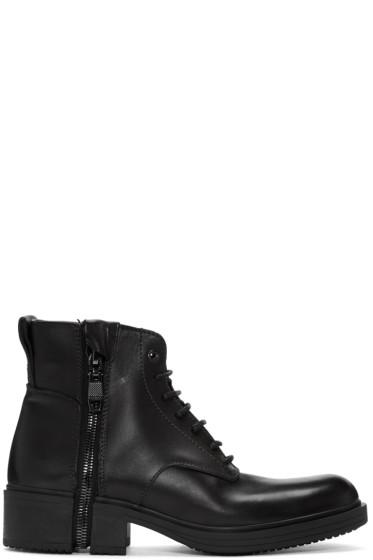 Diesel - Black D-RR Laced Boots