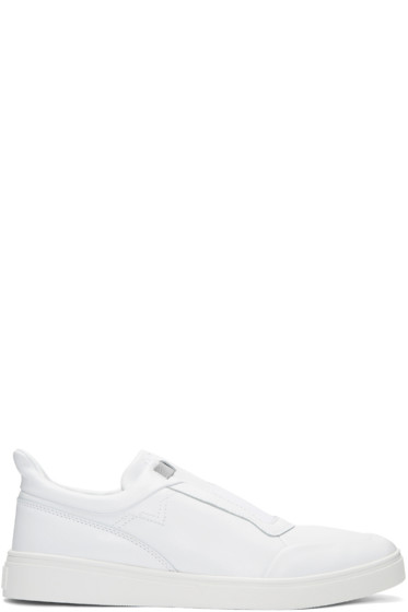 Diesel - White S-Hype Slip-On Sneakers