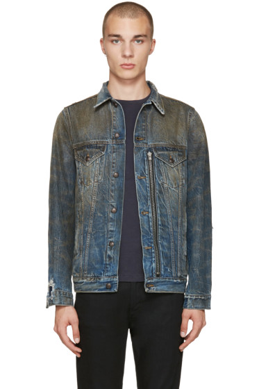 R13 - Indigo Denim Trucker Jacket