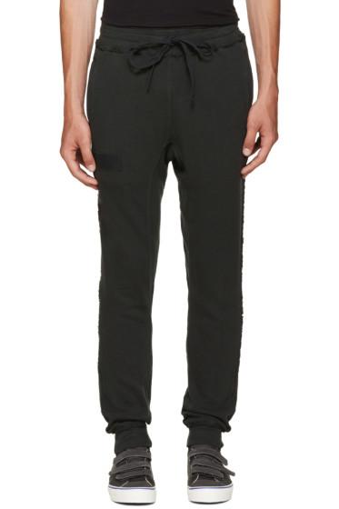 R13 - Black Raw-Cut Lounge Pants