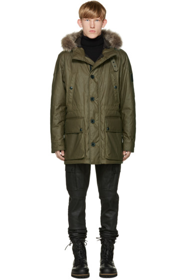 Belstaff - Green Waxed Cotton Pathfinder Parka