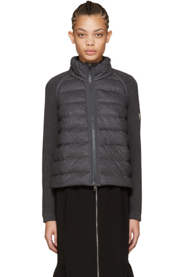 Moncler - Grey Down Panel Jacket