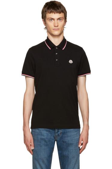 Moncler - Black Piqué Polo