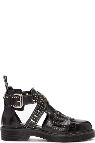 McQ Alexander McQueen - Black Dalston Cut-Out Ankle Boots