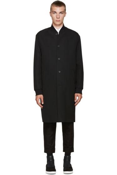 McQ Alexander McQueen - Black Wool MA1 Coat