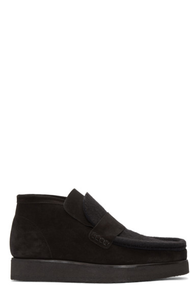 Acne Studios - Black Suede Ronny Boots