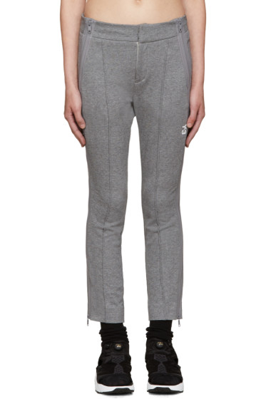 Y-3 - Grey Cropped Lounge Pants