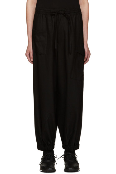 Y-3 - Black Wool Cropped Lounge Pants
