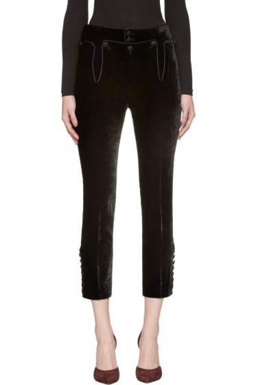 Dsquared2 - Black Velvet Trousers