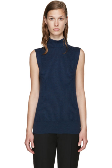 Maison Margiela - Navy Sleeveless Turtleneck
