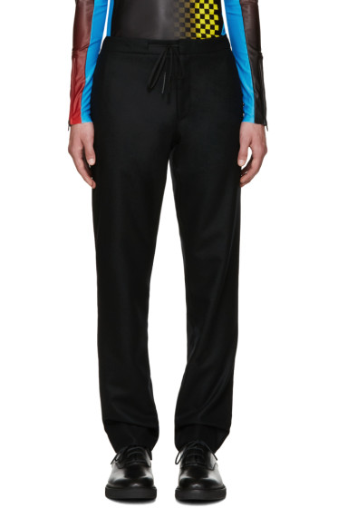 Maison Margiela - Black Wool Drawstring Trousers