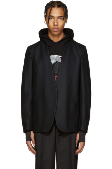 Maison Margiela - Black Wool Deconstructed Blazer