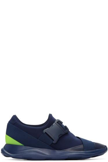 Christopher Kane - Navy Neon Spoiler Sneakers