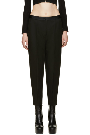 Alexander Wang - Black Satin Trim Trousers